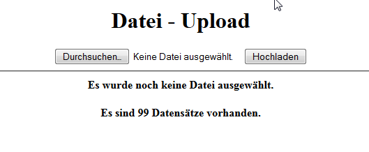 Datei Upload